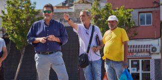 El concejal del distrito de Ofra-Costa Sur, José Ángel Martín visita San Pio