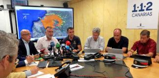 Rueda de prensa ofrecida hoy sobre el incendio de Gran Canaria