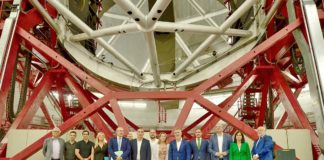 Posado de familia en el Observatorio del Roque de Los Muchachos