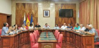 Un momento de la reunión del Consejo Social de La Palma