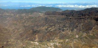 Vista parcial del área afectada