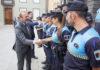 Augusto Hidalgo mantiene un encuentro con los 18 hombres y mujeres que se acaban de integrar en el cuerpo tras finalizar el periodo de formación