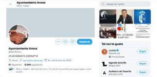 Pantalla de Twitter hackeada