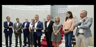 Rueda de prensa del Presidente junto a los portavoces del Parlamento de Canarias