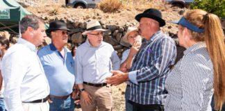 Antonio Morales, comprobó la situación que viven los ganaderos y comerciantes