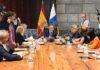 Reunión del pasado consejo de gobierno de Canarias