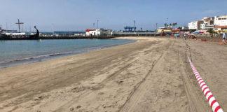 Cierre playa Los Cristianos