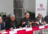Un momento de la rueda de prensa ofrecida por Cáritas
