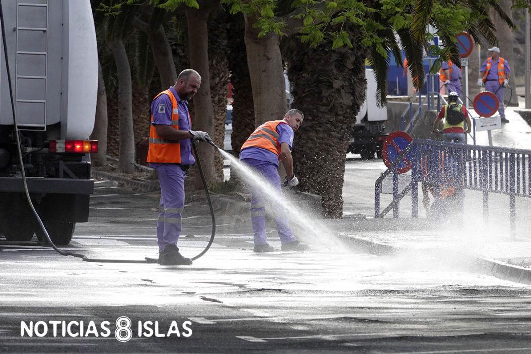 Operarios de limpieza de la ciudad