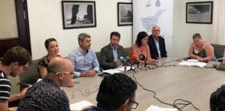 Un momento de la rueda de prensa ofrecida por el grupo de CC-PNC