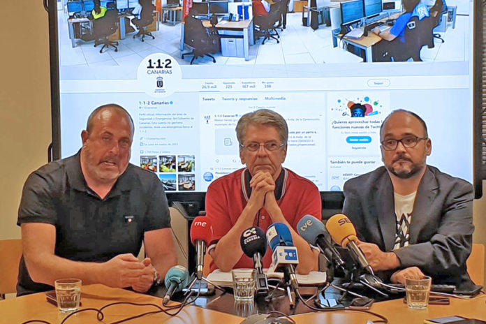Rueda de prensa ofrecida por el Cabildo de Tenerife y los responsables del Gobierno de Canarias. Cedida. NOTIAS 8 ISLAS