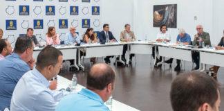 Un momento de la reunión con las alcaldesas y alcaldes de los municipios afectados