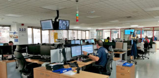 Sala operativa del 1-1-2 Canarias