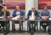 Los representantes de las patronales turísticas canarias durante la reunión con la ministra Maroto. Cedida. NOTICIAS 8 ISLAS