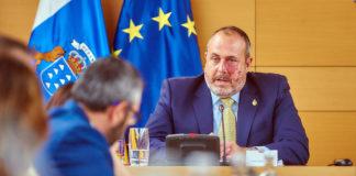 Enrique Arriaga, vicepresidente primero y consejero de Carreteras, Movilidad e Innovación del Cabildo de Tenerife. NOTICIAS 8 ISLAS.