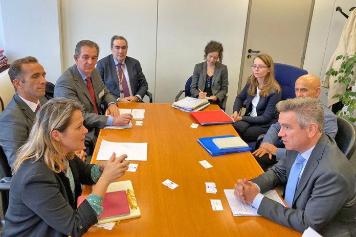 Un momento de la reunión celebrada el pasado día 9 en Bruselas. Cedida. NOTICIAS 8 ISLAS