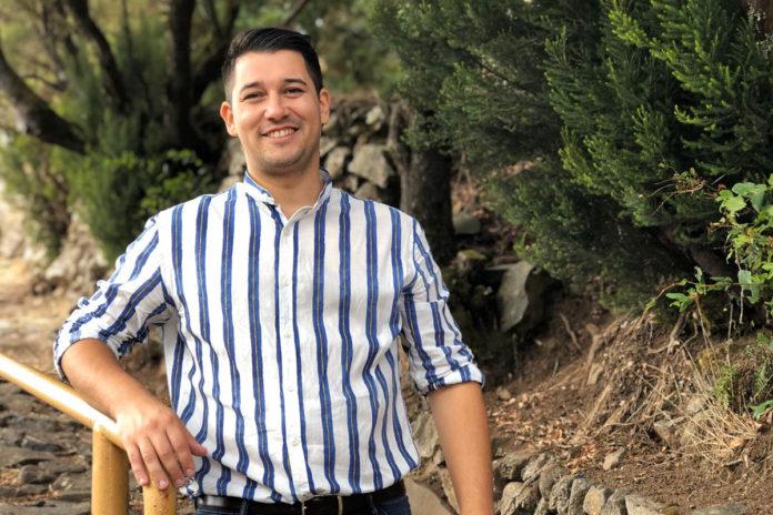 Fabián Chinea candidato de Agrupación Socialista Gomera (ASG) al Senado. Cedida. NOTICIAS 8 ISLAS.
