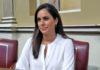 Vidina Espino, portavoz de Cs en el Parlamento de Canarias, durante la sesión plenaria./ Cedida. NOTICIAS 8 ISLAS