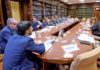 Un momento de la reunión en el Ministerio el pasado 15 de febrero. Cedida. NOTICIAS 8 ISLAS