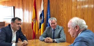 Un momento de la reunión con los responsables de Air Europa. Cedida. NOTICIAS 8 ISLAS