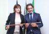 El presidente del Parlamento de Canarias, Guatavo Matos, con la anterior presidenta de la CALRE, Donatella Porzi, en Bruselas. Cedida. NOTICIAS 8 ISLAS