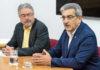 Un momento de la reunión, celebrada a petición de la Federación de Empresarios del Transportes de Canarias (FET). Cedida. NOTICIAS 8 ISLAS
