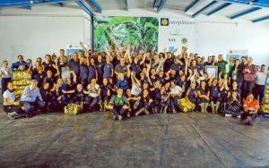 El presidente Torres visitó la planta de empaquetado de Europlátano./ Cedida