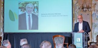 El presidente del Cabildo de Gran Canaria, Antonio Morales en su ponencia. Cedida. NOTICIAS 8 ISLAS