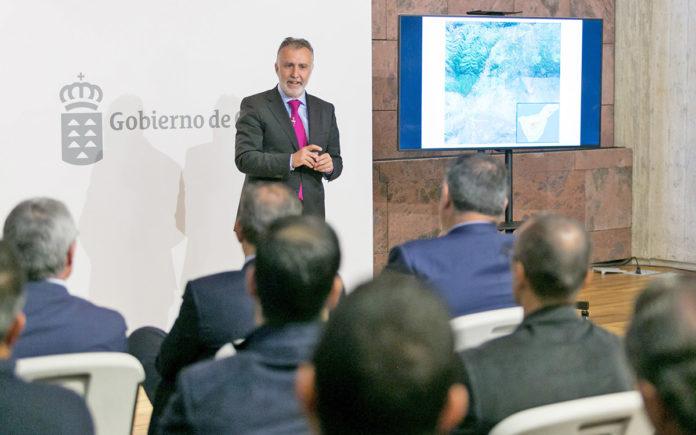 El presidente del Gobierno de Canarias, Ángel Víctor Torres presenta los detalles del proyecto. Cedida. NOTICIAS 8 ISLAS.