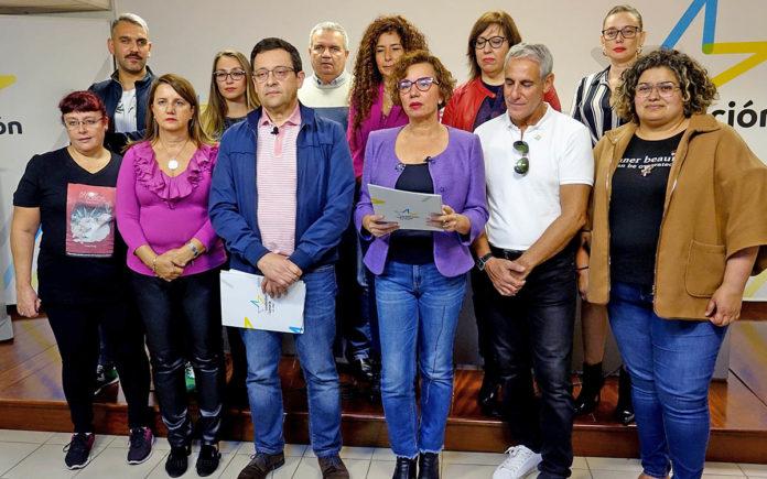 Los integrantes del manifiesto de Coalición Canaria Tenerife. Cedida. NOTICIAS 8 ISLAS.