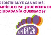 Cartel de las jornadas Renta Ciudadana. Cedida. NOTICIAS 8 ISLAS.