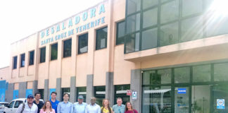Visita de la delegación de EEUU a la desaladora de Santa Cruz./ Cedida. NOTICIAS 8 ISLAS.