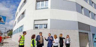 Augusto Hidalgo, ha realizado un recorrido por las obras del edificio que se ubica en La Galera. Cedida. NOTICIAS 8 ISLAS.