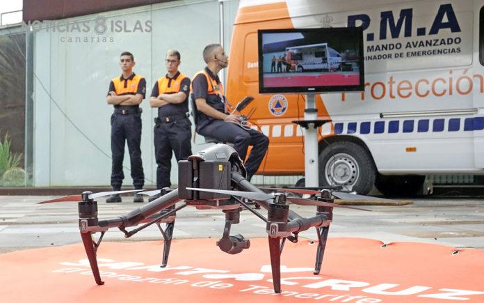 Equipo de Drones de PC de Santa Cruz de Tenerife. Manuel Expósito. NOTICIAS 8 ISLAS.