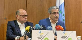 José Miguel Barragán (CC-PNC) y Román Rodríguez (NC)./ Cedida.