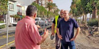 Anselmo Pestana visita las obras de la Avenida Marítima. Cedida. NOTICIAS 8 ISLAS.