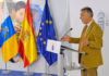 Un momento de la rueda de prensa ofrecida por el presidente Ángel Víctor Torres. Cedida. NOTICIAS 8 ISLAS.