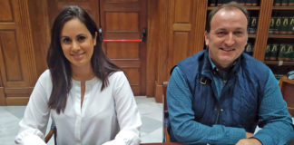 Vidina Espino y Ricardo Fdez. de La Puente en Comisión de Hacienda. Cedida. NOTICIAS 8 ISLAS.