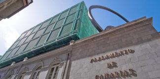 Fachada del Parlamento de Canarias. Cedida. NOTICIAS 8 ISLAS.