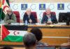Reunión en la que se condenó la decisión unilateral de Marruecos. Cedida. NOTICIAS 8 ISLAS.