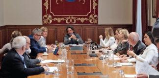 Reunión de la Mesa y de la Junta de Portavoces. Cedida. NOTICIAS 8 ISLAS.