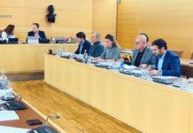 Manuel Fernández durante la Comisión Plenaria. Cedida. NOTICIAS 8 ISLAS.