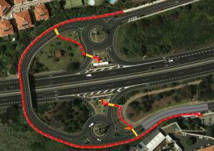 Plano itinerario peatonal paradas La Quinta. Cedida. NOTICIAS 8 ISLAS.