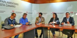 Reunión PSOE y UGT. Cedida. NOTICIAS 8 ISLAS.