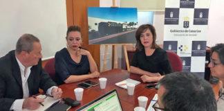 Teresa Cruz, durante la reunión celebrada hoy en Lanzarote. Cedida. NOTICIAS 8 ISLAS.