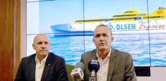 Rueda de prensa de la nueva propuesta de servicios de la naviera. Cedida. NOTICIAS 8 ISLAS.