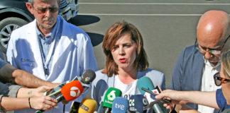 Teresa Cruz y Domingo Núñez comparecen ante los medios. Cedida. NOTICIAS 8 ISLAS.