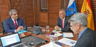 Reunión del Consejo de Gobierno hoy en Las Palmas. Cedida. NOTICIAS 8 ISLAS.