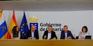 Rueda de prensa ofrecida esta noche por el presidente del Gobierno de Canarias Ángel Víctor Torres. Cedida. NOTICIAS 8ISLAS.