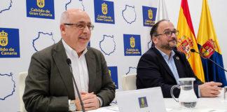 Rueda de prensa de Antonio Morales y José Antonio Valbuena. Cedida. NOTICIAS 8 ISLAS.